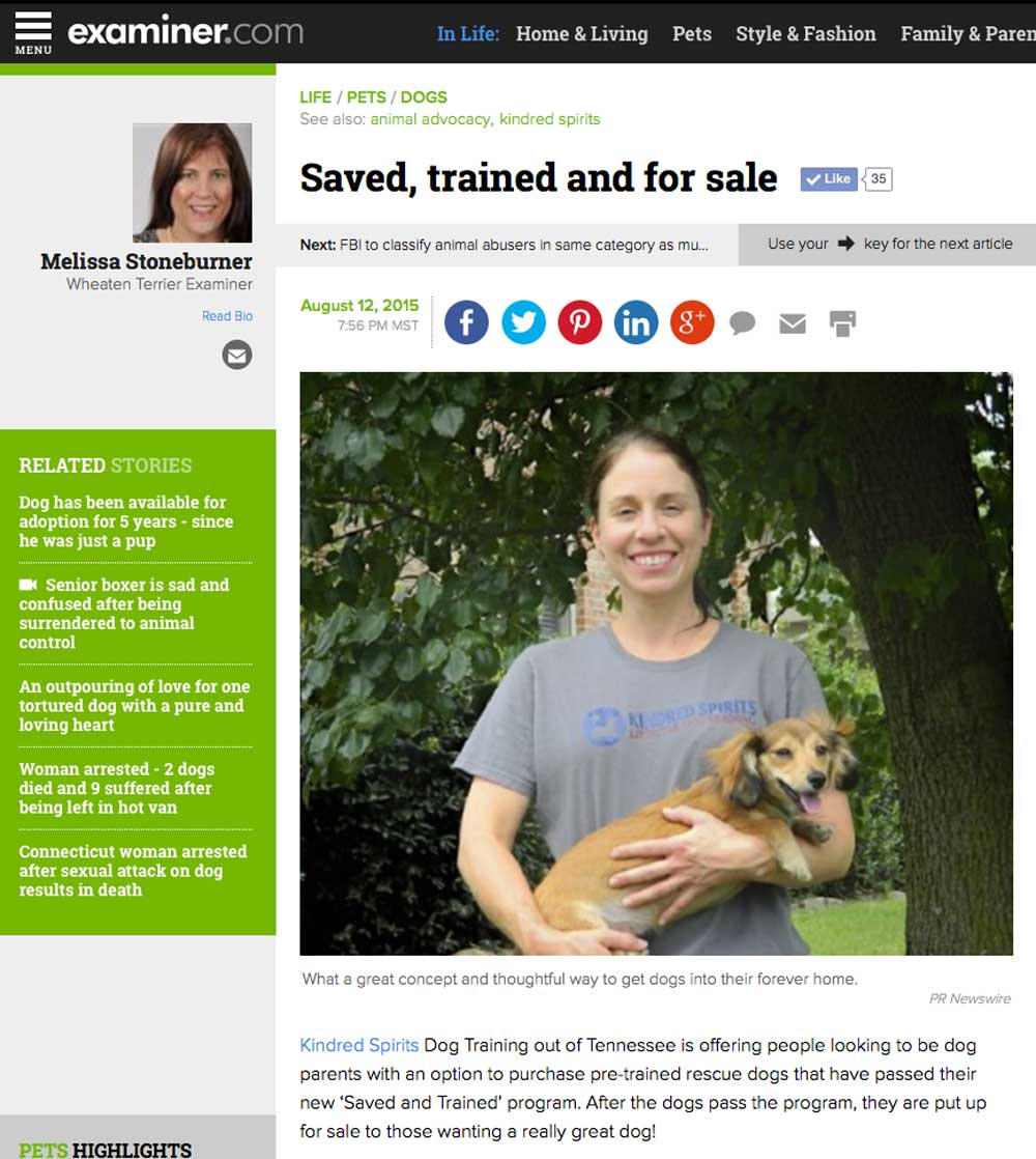 Saved and Trained - Examiner.com